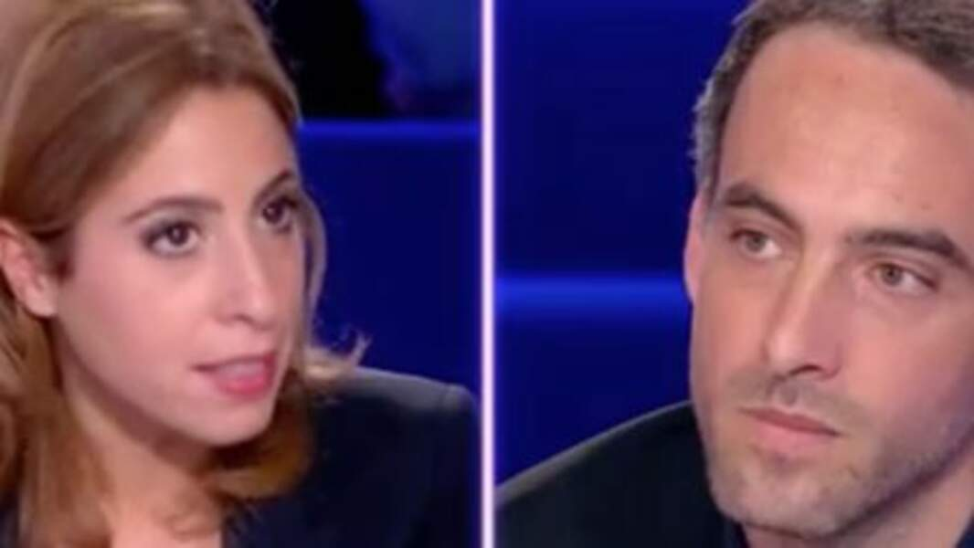 """Léa Salamé et  Raphaël Glucksmann pendant l'émission """"On n'est pas couché"""" où ils se sont rencontrés"""