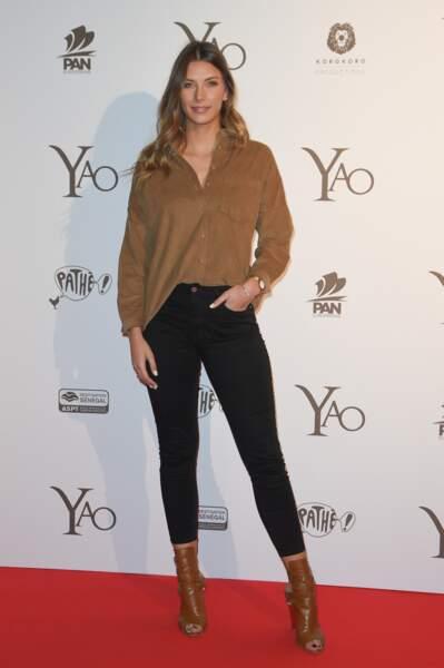 """Camille Cerf (Miss France 2015), à l'avant-première du film """"Yao"""" à Paris le 15 janvier 2019"""