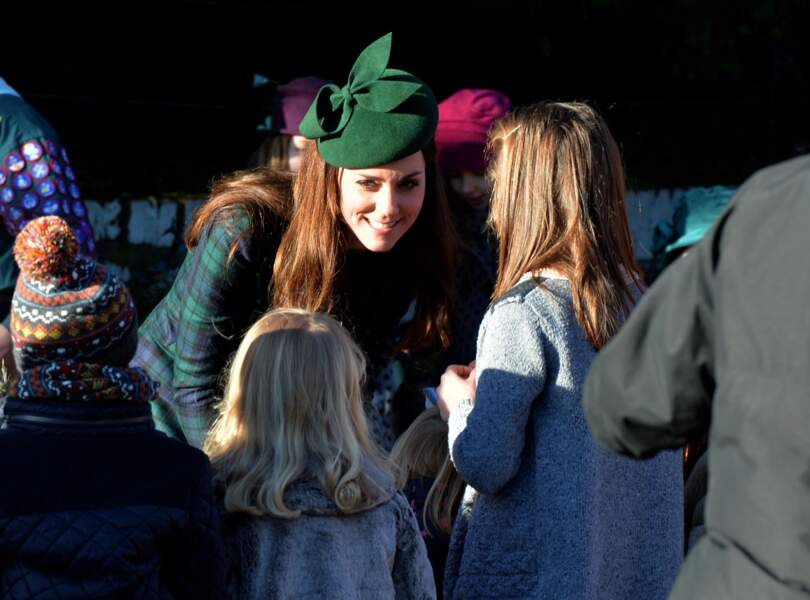 Les époux de Cambridge se rendent à la messe de Noël à Sandringham, le 25 décembre 2013