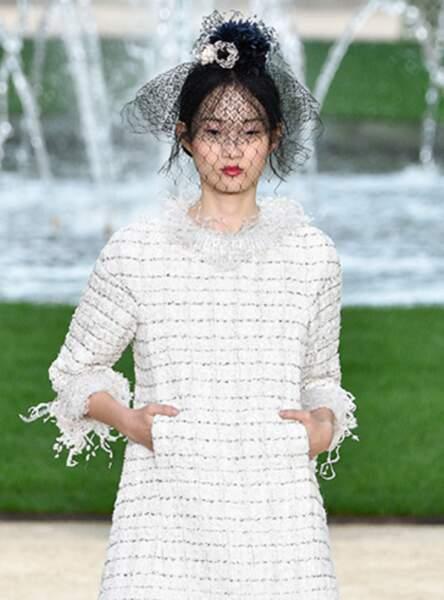 La voilette comme sur le défilé Chanel printemps-été 2018