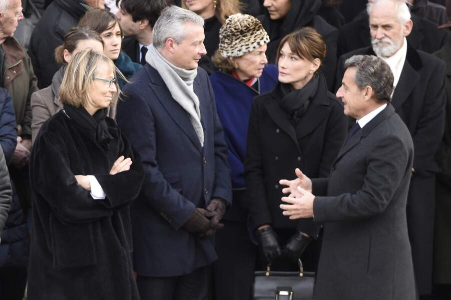Francoise Nyssen, Bruno Le Maire, Nicolas Sarkozy et Carla Bruni-Sarkozy
