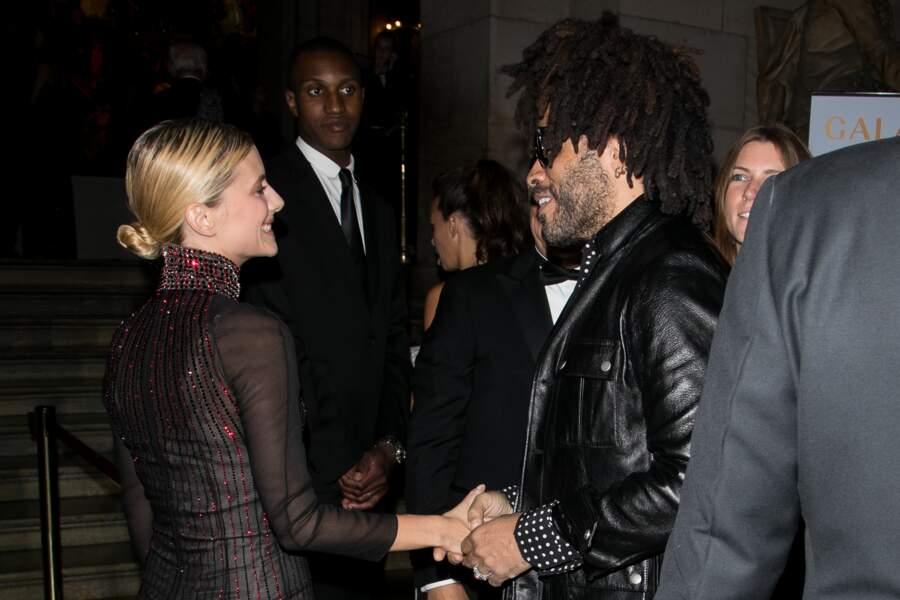 Mélanie Laurent et Lenny Kravitz pour l'ouverture de la saison de l'Opéra Garnier à Paris le 21 septembre 2017