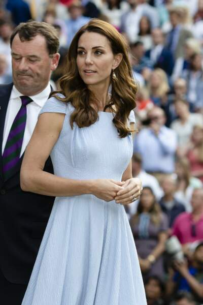 Kate Middleton très chic en robe Emilia Wickstead à Wimbledon