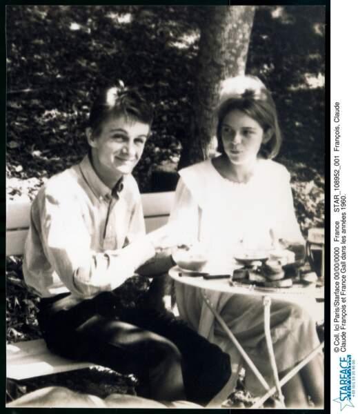 Claude François et France Gall dans les années 60