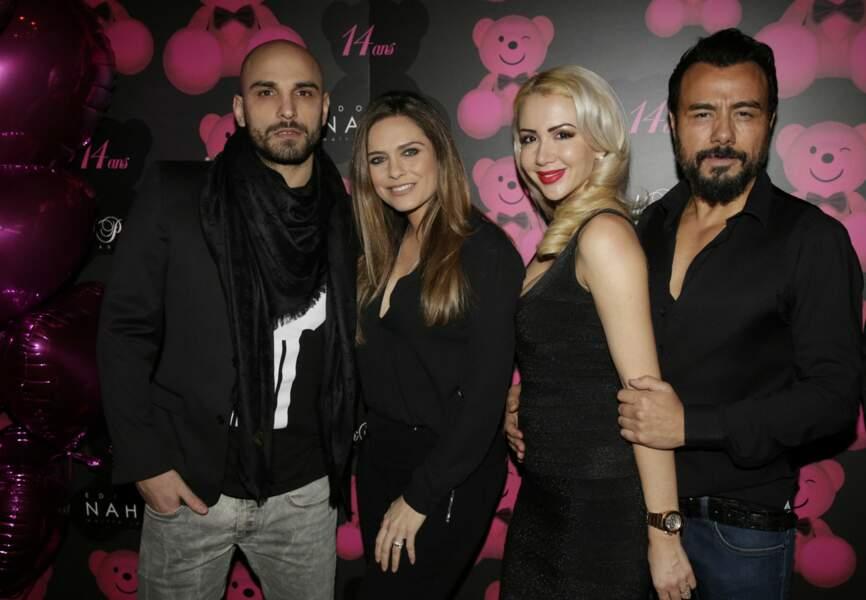 DJ Jey Didarko et son épouse Clara Morgane,  Joanna et Muratt Atik