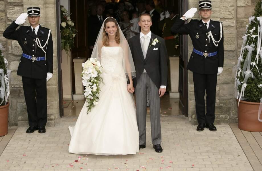 Tessy Anthony et Louis du Luxembourg lors de leur mariage le 29 septembre 2006
