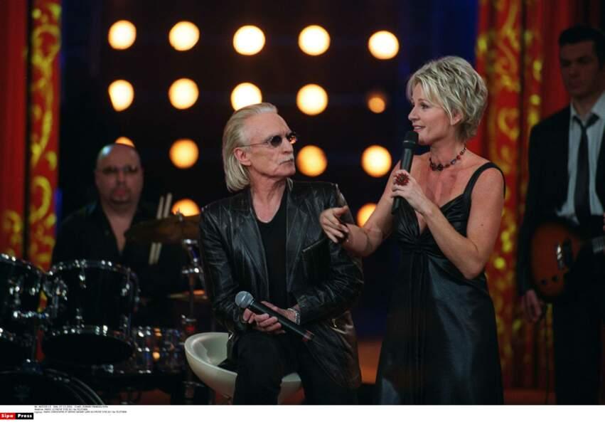 Avec le chanteur Christophe