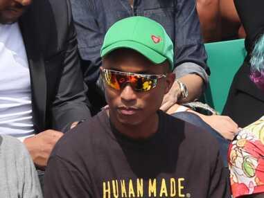 PHOTOS - Pharrell Williams et sa femme dans les tribunes de Roland-Garros