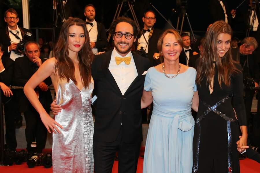Thomas Hollande et Ségolène Royal au Festival de Cannes le 27 mai 2017.