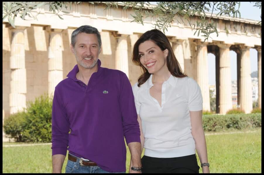 Daphnée Roulier et Antoine de Caunes à Athènes en 2010