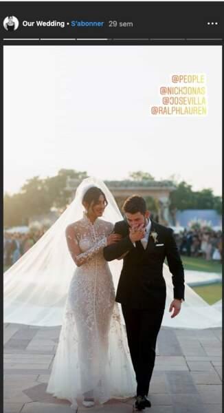 Nick Jonas, marié magnifique en costume noir Ralph Lauren pour épouser Pryianka Chopra en Inde