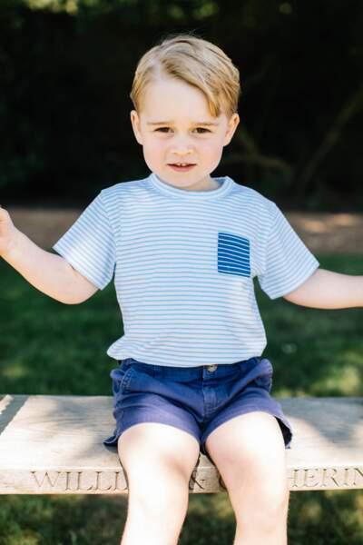 Le prince George lors de ses trois ans