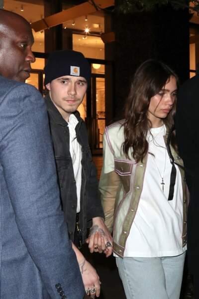 Brooklyn Beckham et Hana Cross semblent toujours aussi proches