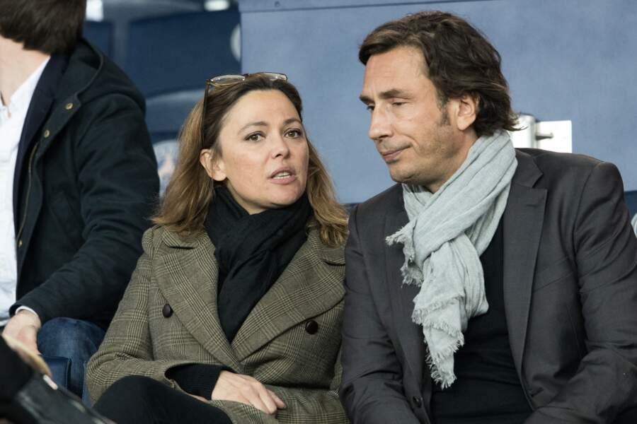 Sandrine Quétier avec son compagnon Sébastien Goales au Parc des Princes ce 29 avril