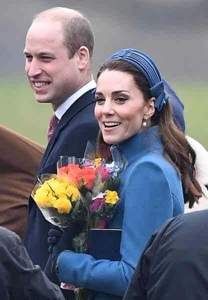 Kate Middleton tout sourire