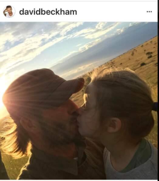 David Bekcham et sa fille Harper