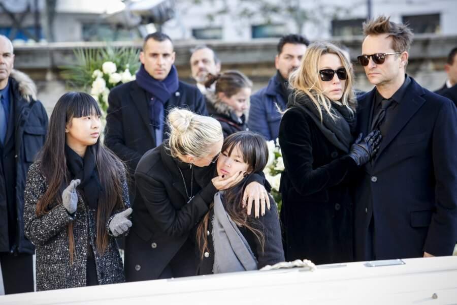 David Hallyday, Laura Smet, Laetitia et ses deux filles