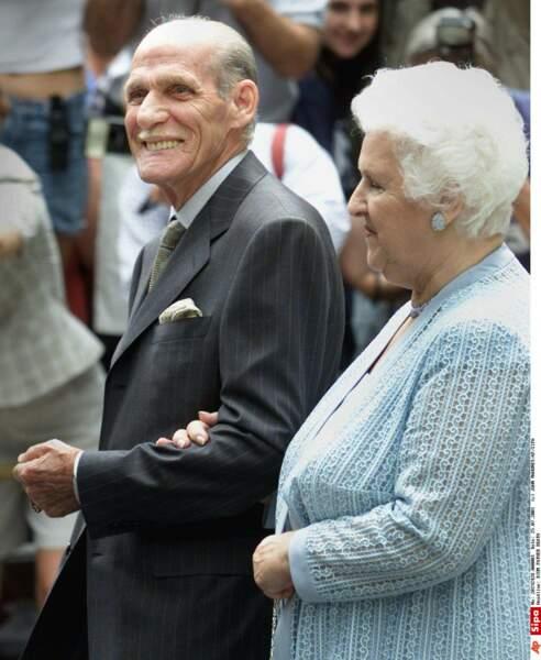 Adhémar et Thérèse Dion au baptême de René-Charles, le 25 juin 2001 à Montréal
