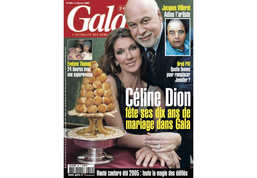 Céline Dion fête ses dix ans de mariage dans Gala