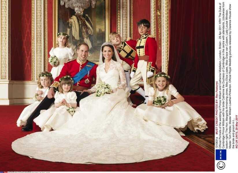 Portrait officiel du mariage du Prince William et de Kate Middleton le 29 avril 2011