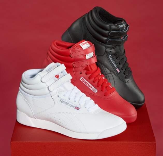 Freestyle dans ses trois coloris OG - Triple Red, Triple White et Triple Black