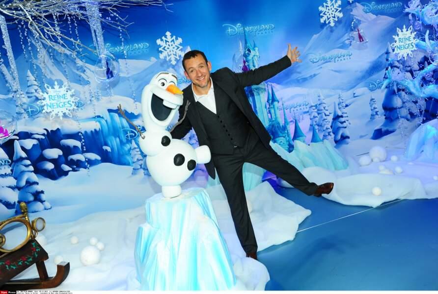 En 2013, Dany Boon prête sa voix à Olaf, dans La reine des neiges