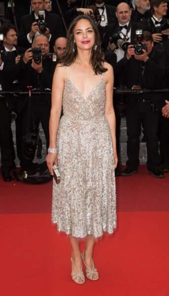 Bérénice Béjo, bijoux Chaumet, coiffée par Stéphane Bodin, consultant Cannes pour Dessange