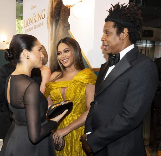 Meghan Markle et le prince Harry ravis de voir Beyoncé et son mari Jay-Z