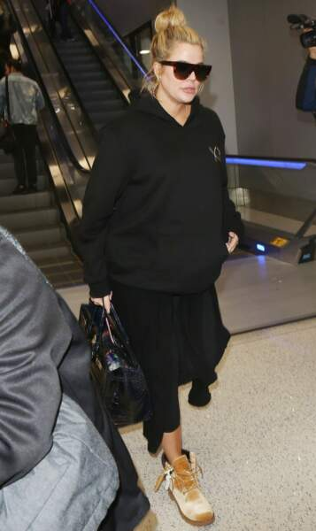 Fergie à l'aeroport de Los Angeles
