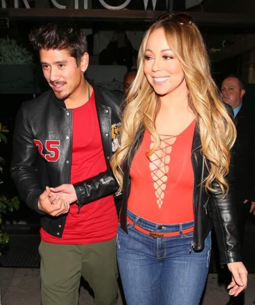 Mariah Carey, qui vient de fêter ses 48 ans, et le danseur Bryan Tanaka (33 ans)