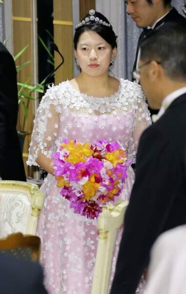 La princesse Ayako du Japon lors de la soirée de son mariage à Tokyo, le 30 octobre 2018
