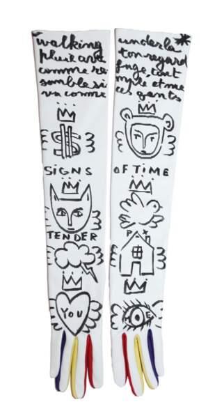 Gants en cuir en édition limitée, prix sur demande (Agnelle par Jean-Charles de Castelbajac).