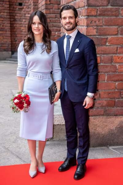 La princesse Sofia de Suède a été la première à porter cette jupe Hugo Boss le 14 novembre 2018 à Stockholm