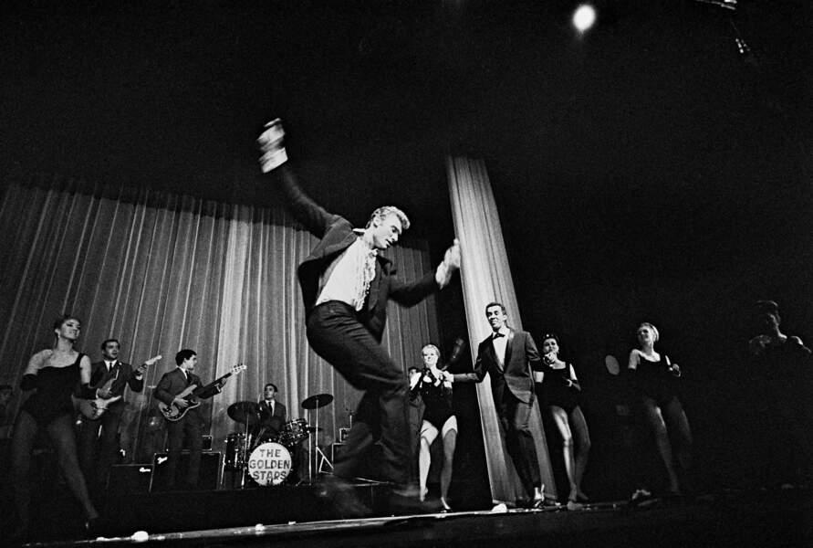 Johnny Hallyday lors de son premier l'Olympia 1962