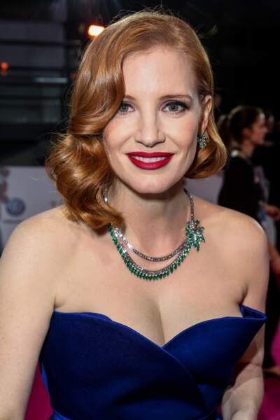 Le brushing hollywoodien de Jessica Chastain.