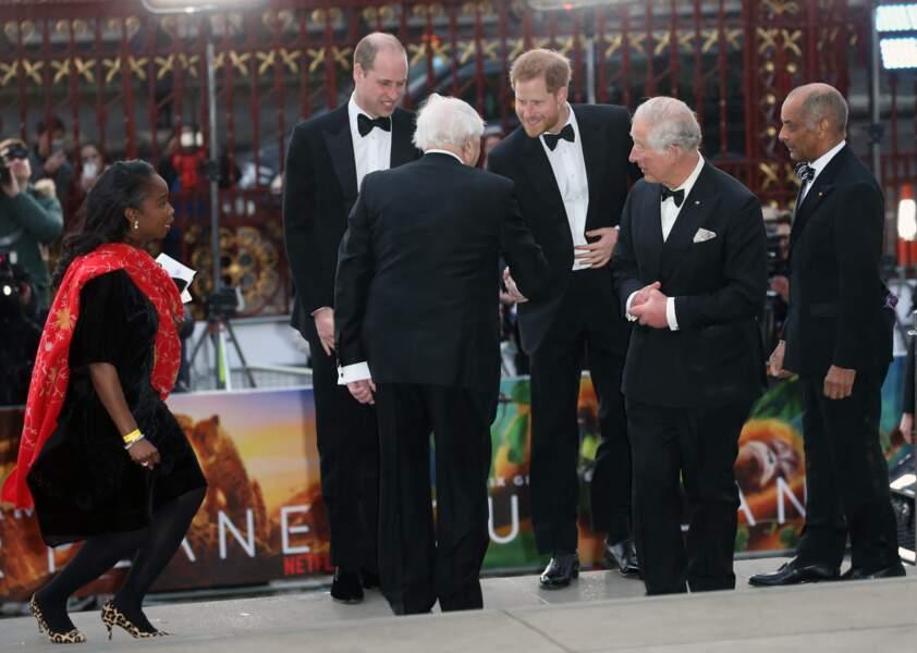 La famille royale britannique à l'avant-première de Our Planet, à Londres, le 4 avril 2019.