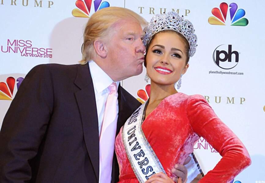Olivia Culpo et Donal Trump qui finance le concours