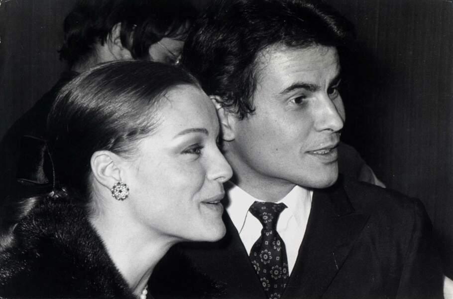 Romy Schneider et le comédien allemand Horst Buchholz
