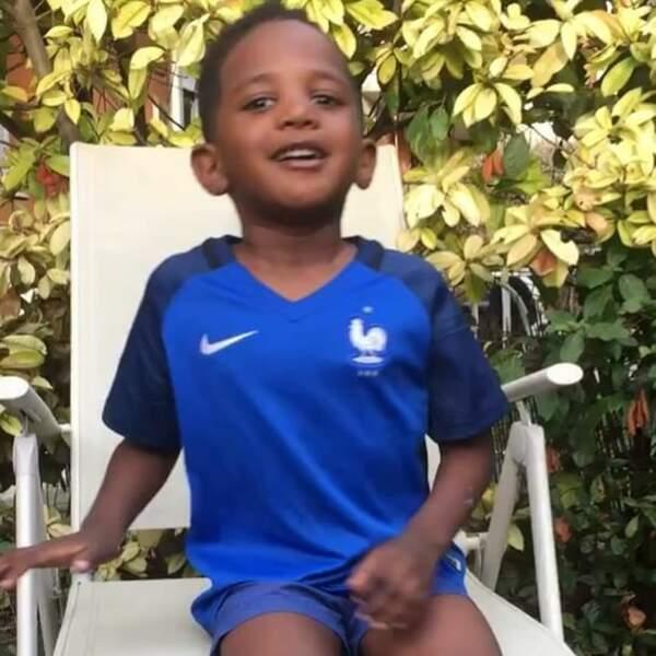 Kais, le fils de Moussa Sissoko, encourage son père avec enthousiasme sur Instagram