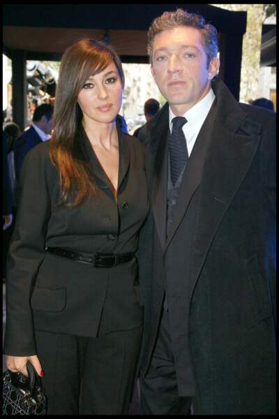 Monica Bellucci et Vincent Cassel à la première de Mesrine en 2008