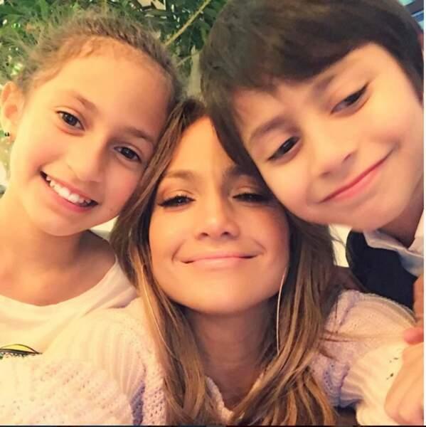 Jennifer Lopez et ses enfants Maximilian et Emme