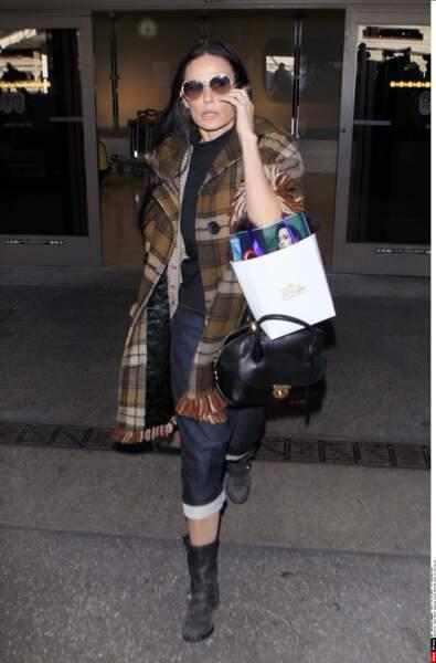 Demi Moore à Los Angeles en Décembre 2015