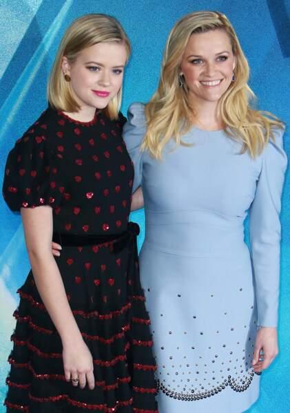 """Reese Witherspoon et Ava Phillippe à la première du film """"Un raccourci dans le temps"""" à Londres, le 13 mars 2018"""