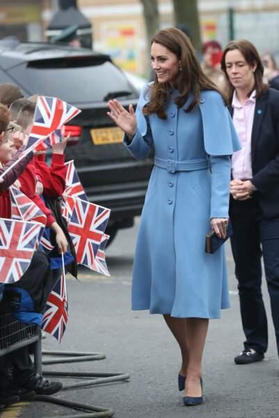 La duchesse de Cambridge, Kate Middleton, lors de sa visite en Irlande du Nord, le 28 février 2019.
