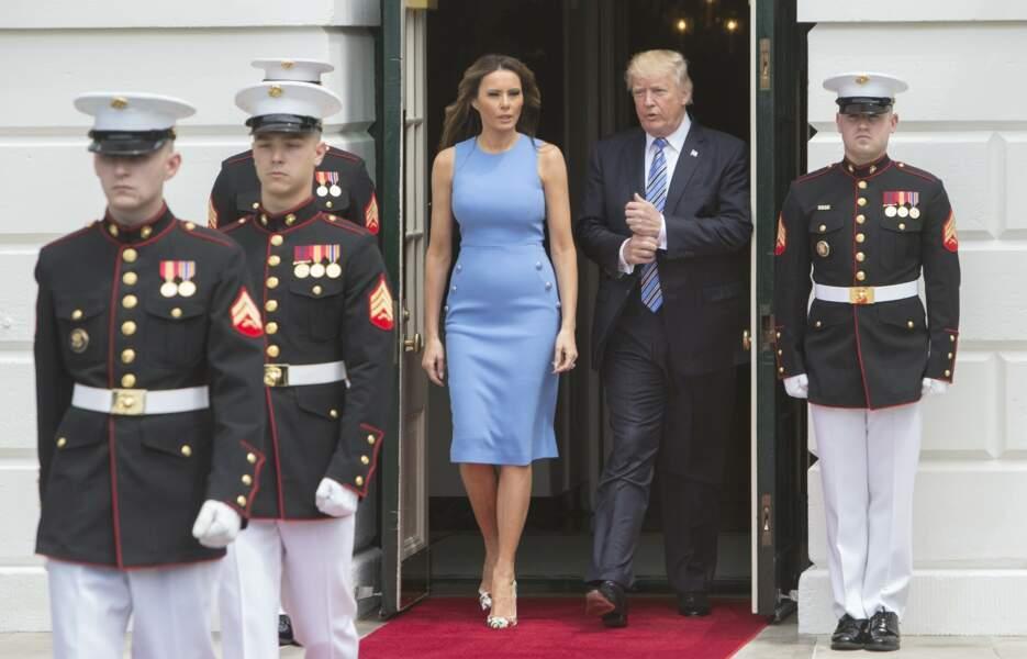 Le président des Etats-Unis Donald Trump et sa femme Melania