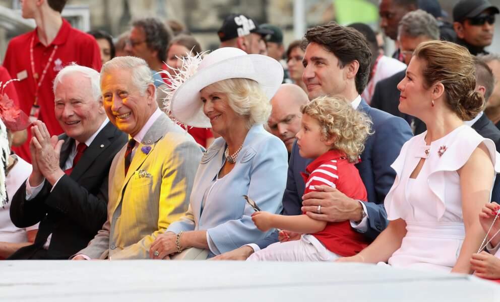 Hadrien, le fils de Justin Trudeau aux côtés de Charles et Camilla
