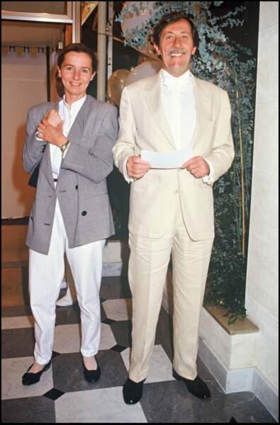 Jean Rochefort et sa deuxième épouse Françoise Vidal en 1988