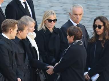 PHOTOS - Hommage national à Charles Aznavour : sa femme et ses enfants émus mais dignes
