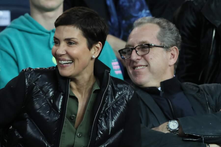 Cristina Cordula et son mari Frédéric Cassin tout sourire