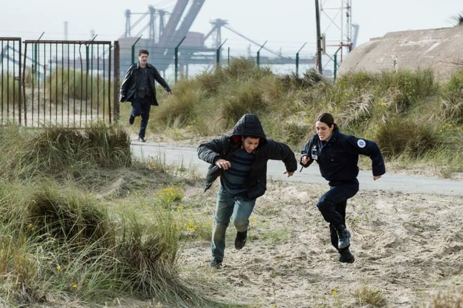 Marc Lavoine et Sofia Essaïdi à Dunkerque pour le tournage de Kepler(s)